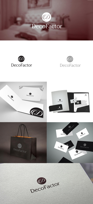 Prezentacja projektu logo oraz wizytówki dla firmy zajmującej się wykończeniówką. Dominuje styl klasyczny, elegancki.