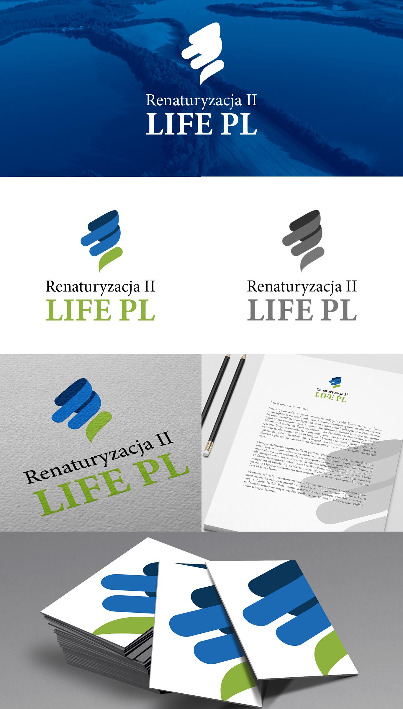 Prezentacja projektu logo dla inicjatywy hydrotechnicznej mającej na celu odmianę krajobrazu w Dolinie Biebrzy