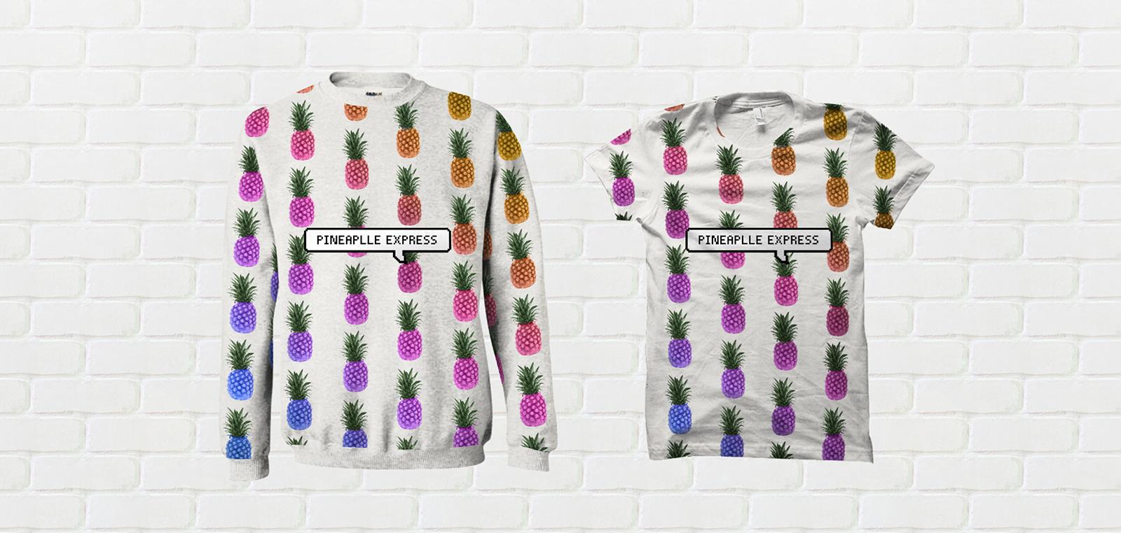 koszulka i bluza z nowoczesnym nadrukiem