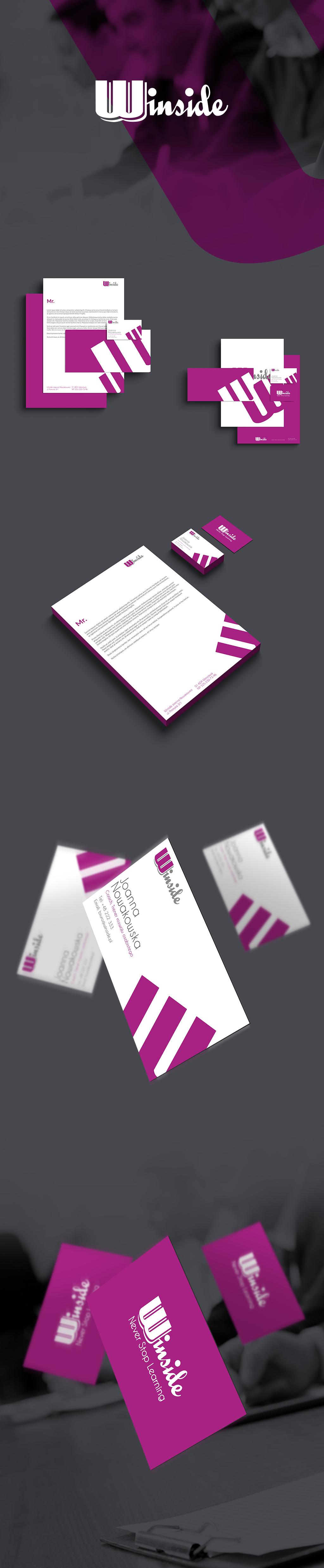 Projekt wizytówki i papieru firmowego