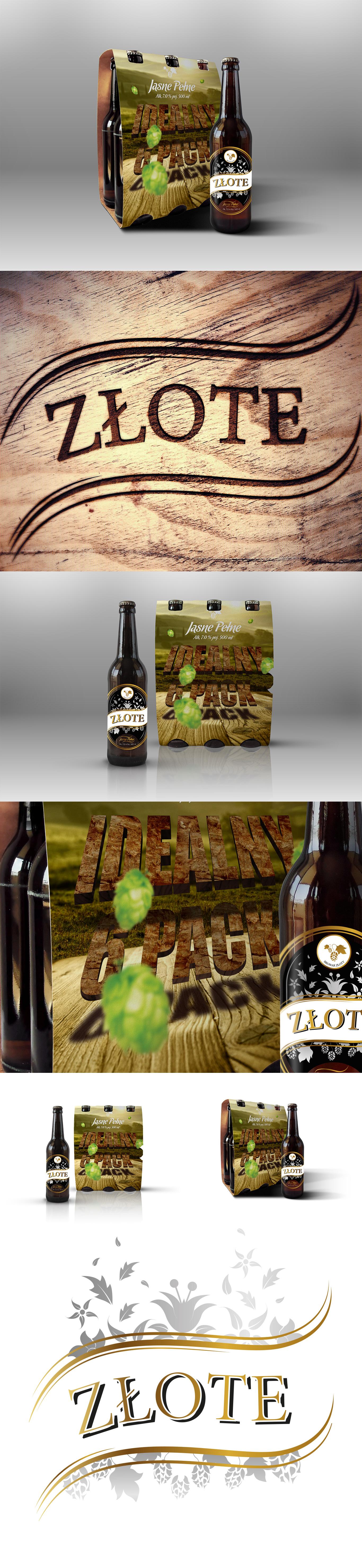 Wizualizacja projektu opakowania na piwo