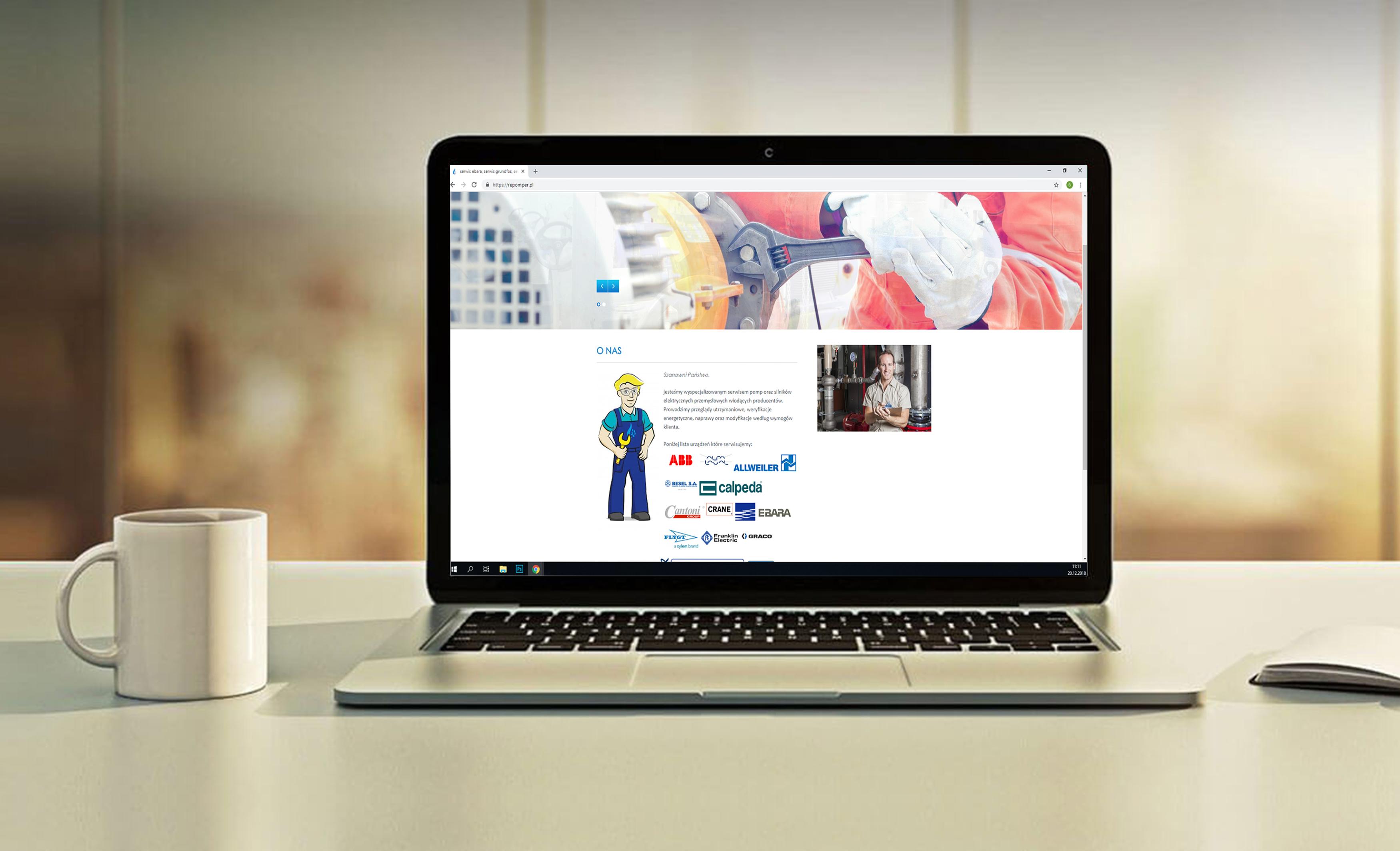 strona internetowa z brandhero