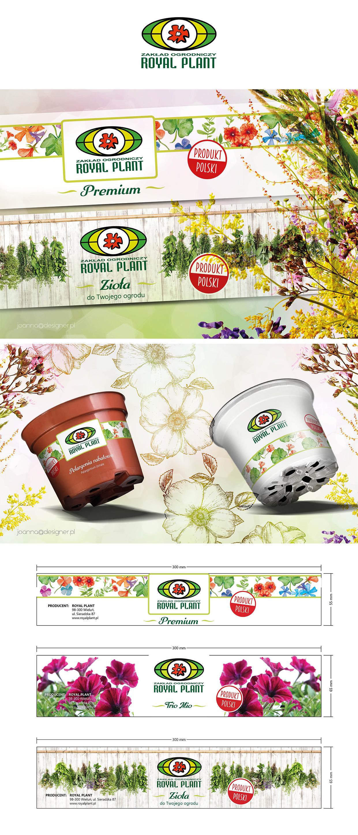 Etykiety Dla Firmy Ogrodniczej Crowd Design