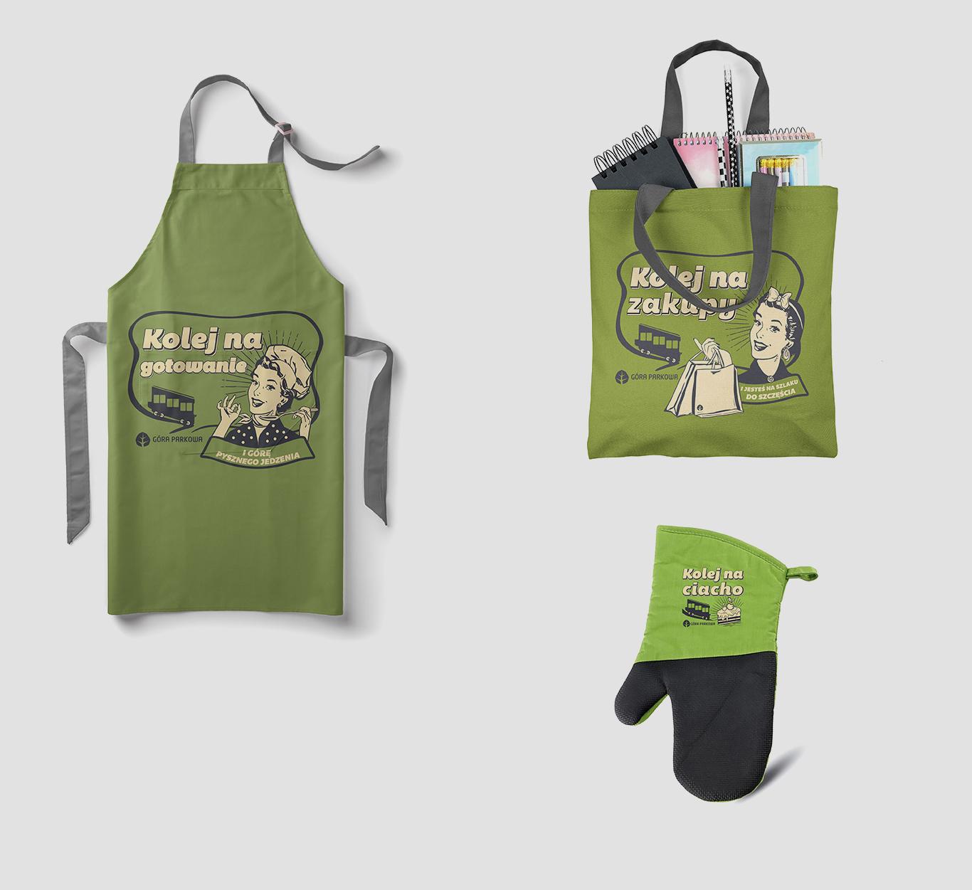 akcydensy pkl fartuch, rękawica kuchenna torba