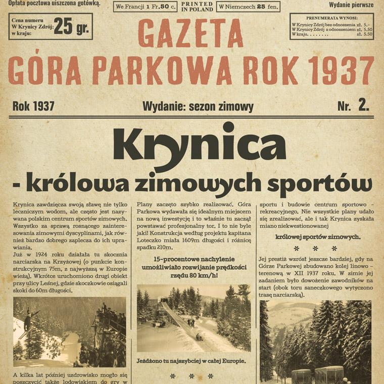 Gazetka historyczna i gadżety – Góra Parkowa