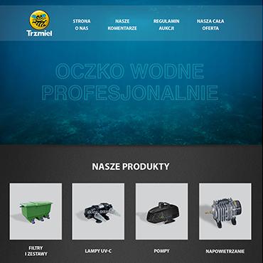 strona internetowa dla firmy akwarystycznej