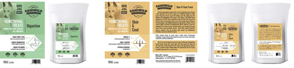 opakowania i etykiety projekty caniwild